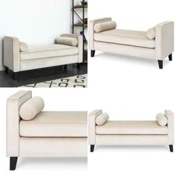 Best Choice Products Velvet Upholstered Accent Ottoman Bench