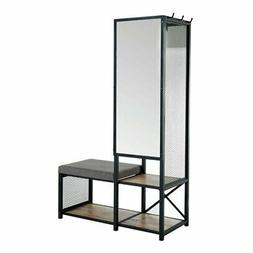 Furniture of America Verna Industrial Bench with Mirror in S