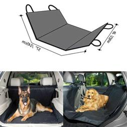 Waterproof Pet Dog Car Back Rear Seat Cover Suv Protector Cu