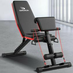 Weight Bench Adjustable Strength Training Exercise Bench for