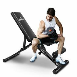 FLYBIRD Weight Bench Flat Incline/Decline Fitness Gym Exerci