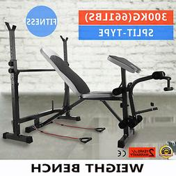 weight bench set home gym deluxe