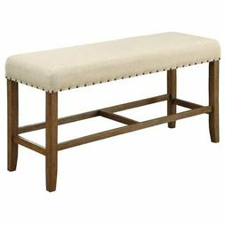 Furniture of America Whunter Counter Height Dining Bench in