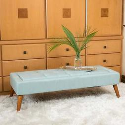 Williams Tufted Fabric Ottoman Bench by Christopher Knight