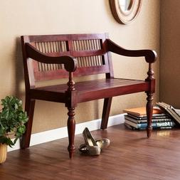 Wood Bench Entryway Foyer Mud Room Country Classic Porch Sea