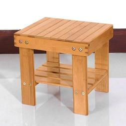 Wooden Bamboo Bench Safe Stool Storage Small Stool Home Fish