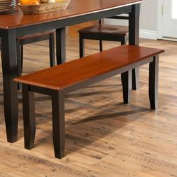 Wooden Dining Bench Seat Furniture Black Cherry 2 Person Ben