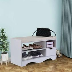 Entryway Shoe Bench Rack Bench Shoes Origanizer With Cushion