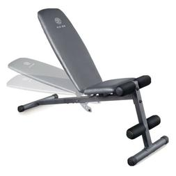 XR 5.9 Adjustable Slant Workout Bench with 4-Roll Leg Lockdo