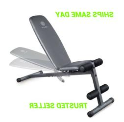 Weider XR 5.9 Adjustable Slant Workout Bench with 4-Roll Leg