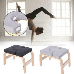 Yoga Headstand Stool Sports Exercise Workout Bench Fitness G