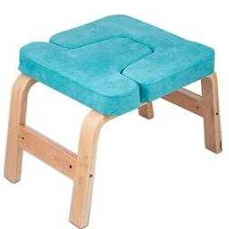 Yoga Inversion Bench Headstand Chair Beech Suede Sturdy Fitn