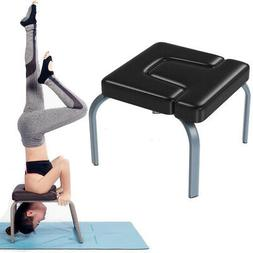 Yoga Inversion Chair Yoga Headstand Bench w/ Steel Frame & P
