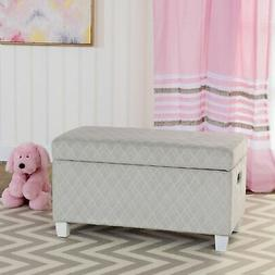 Kinfine Youth Upholstered Storage Bench with Hinged Lid, Geo
